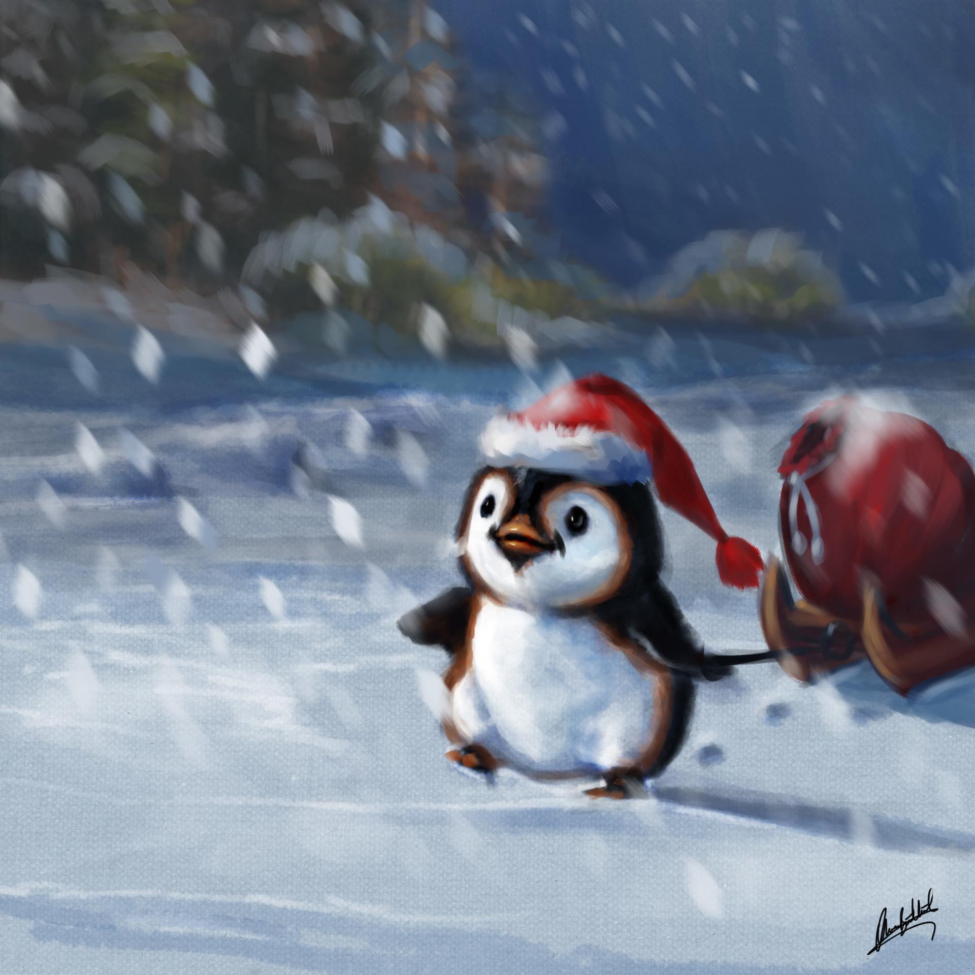 Okan bulbul penguin santa01