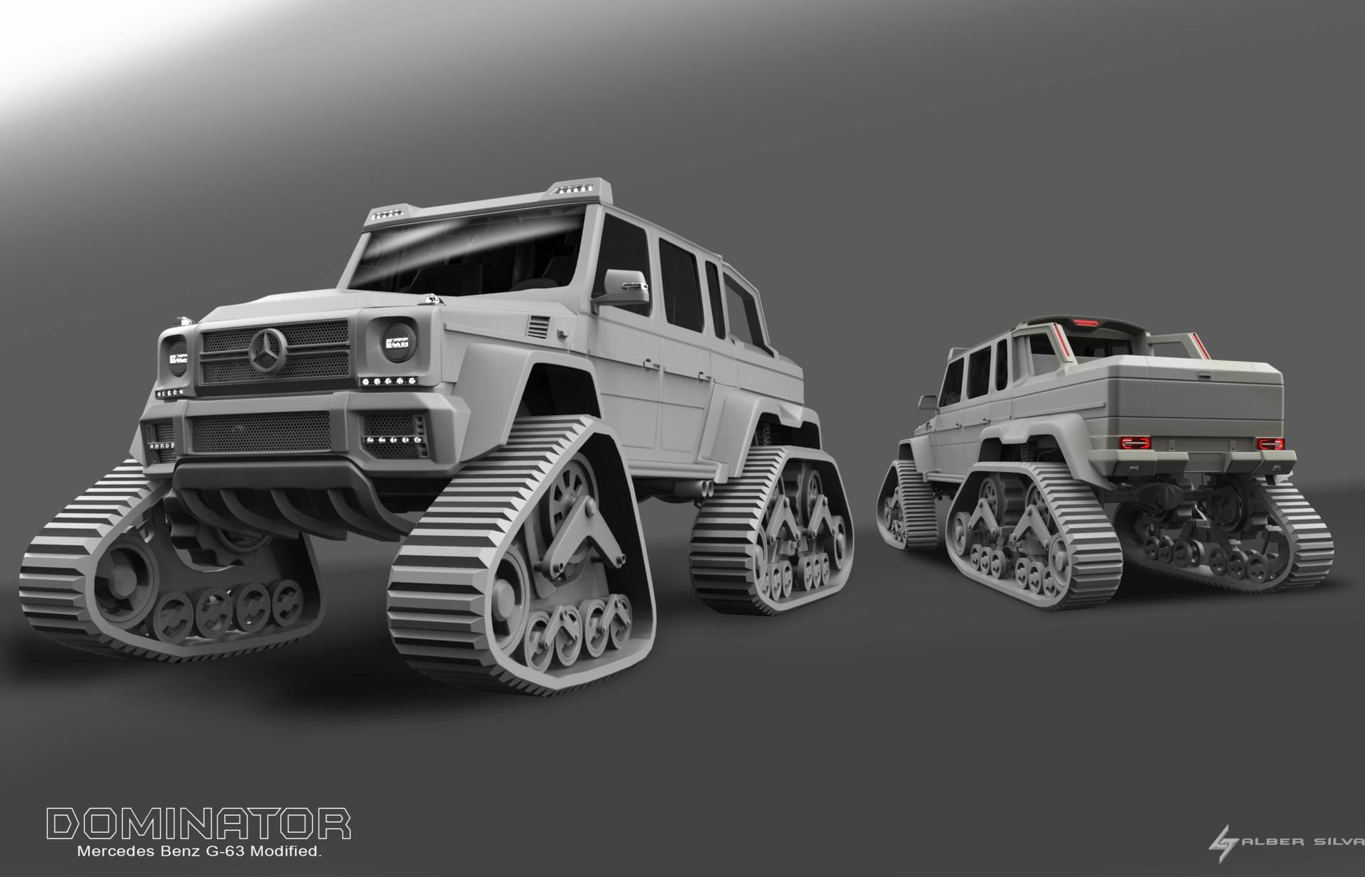 Artstation Dominator Mercedes Benz G 63 6x6 Modified Alber Silva