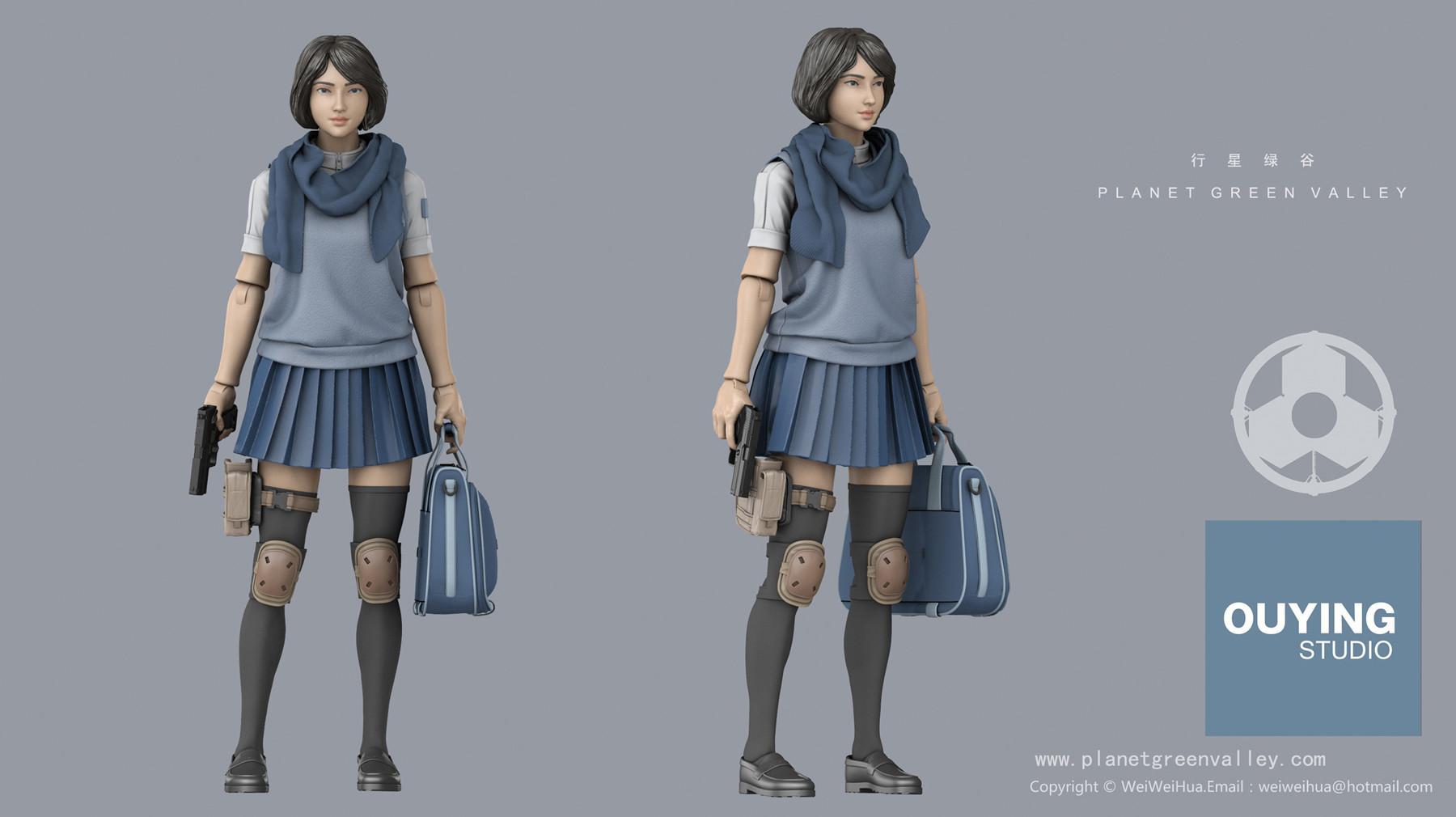 ArtStation - PGV_ 1:18 Scale action figure female