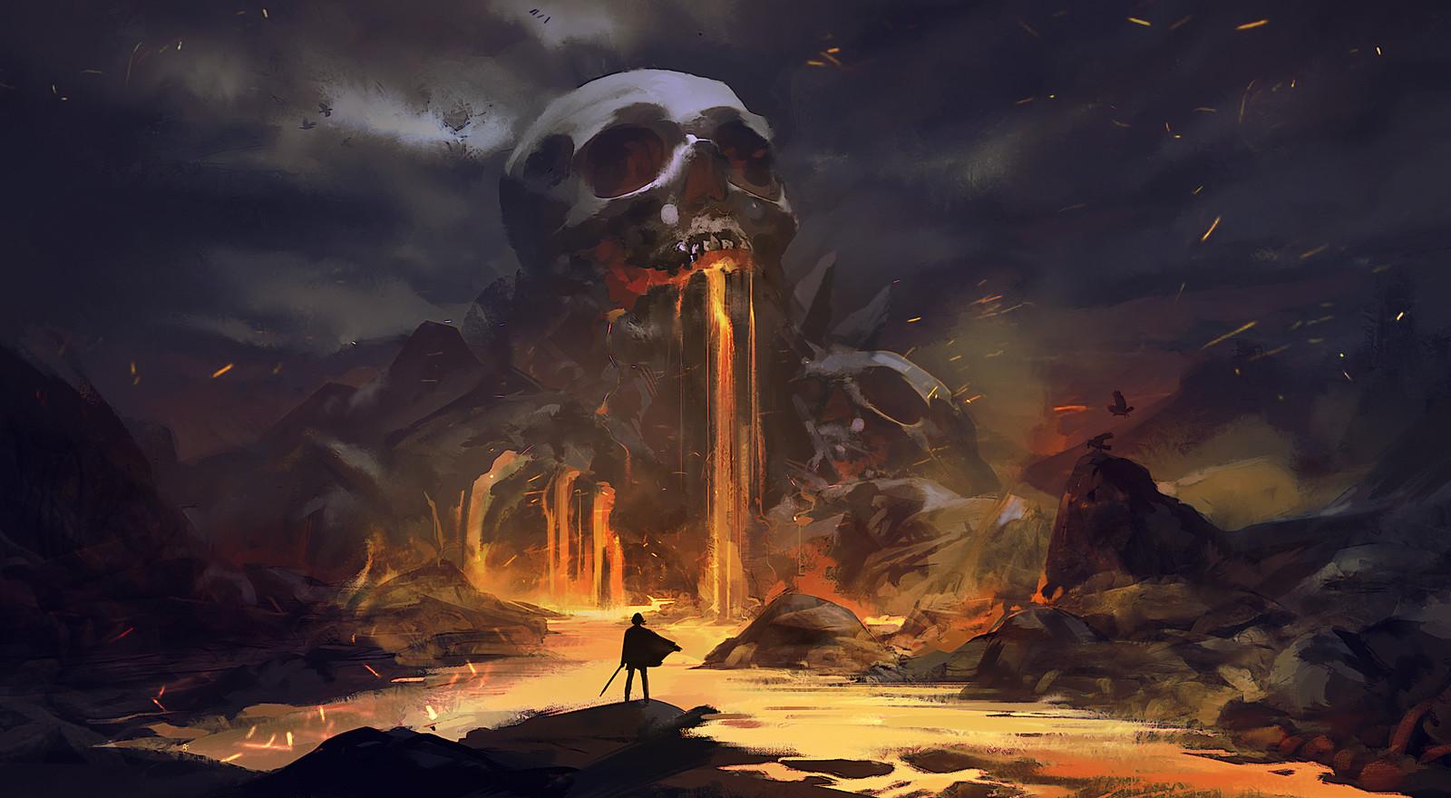 Skull volcano