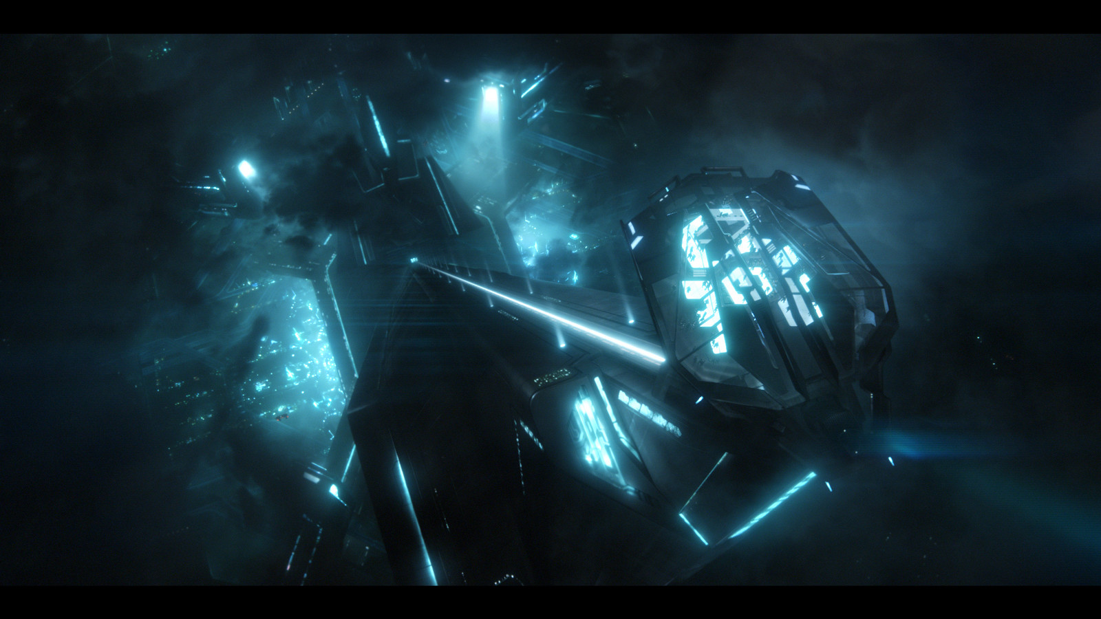 Tron Digital matte painting