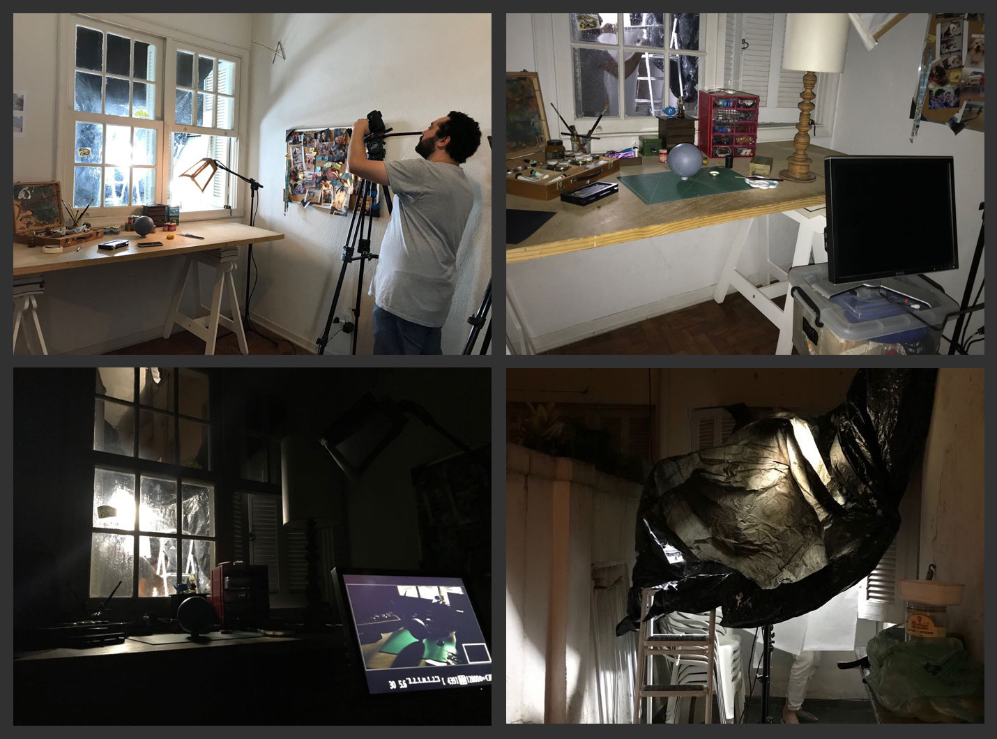 Making Of - Set creation and lighting.