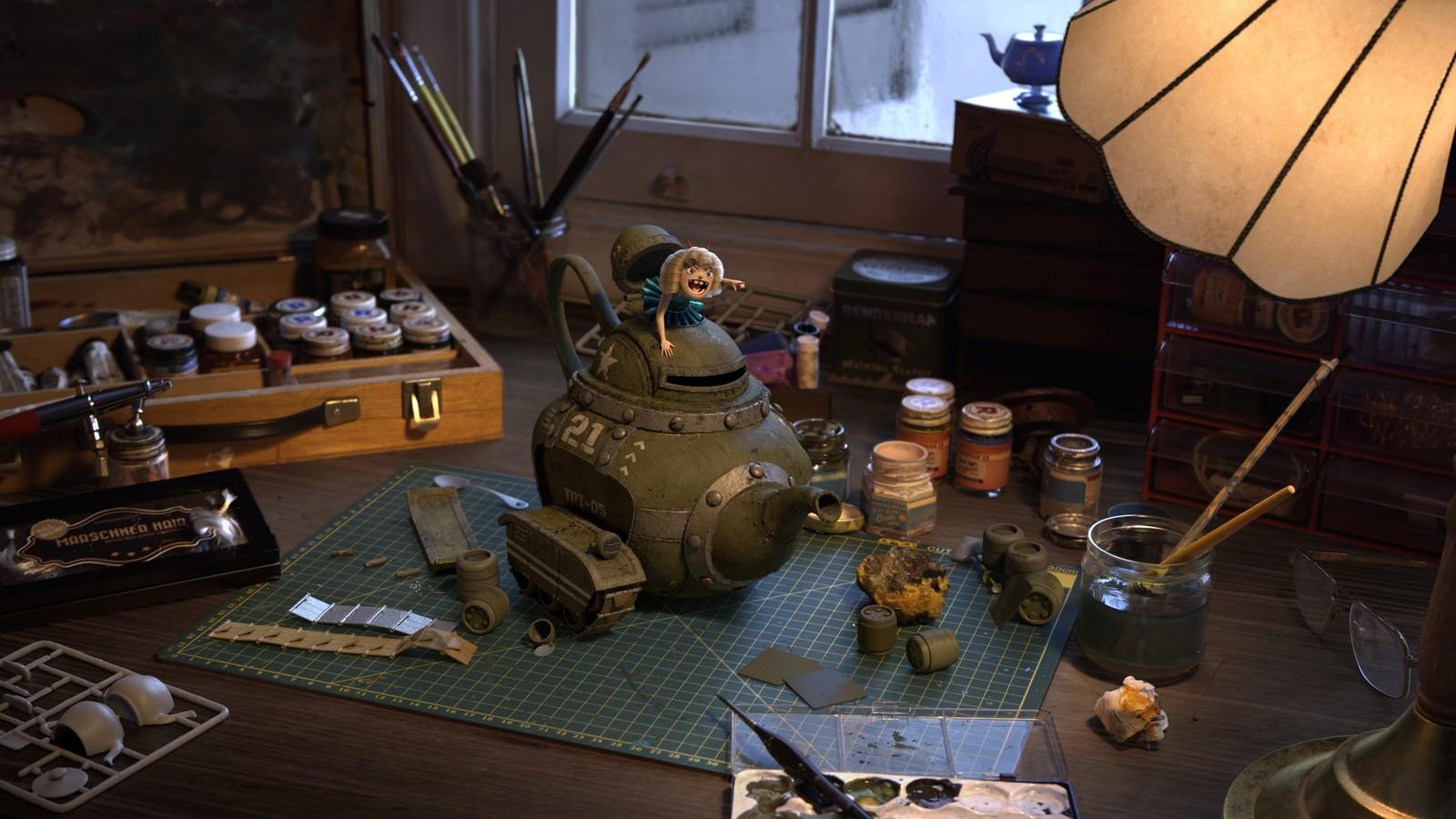 Rolling Teapot - Pixar RenderMan Challenge Winner
