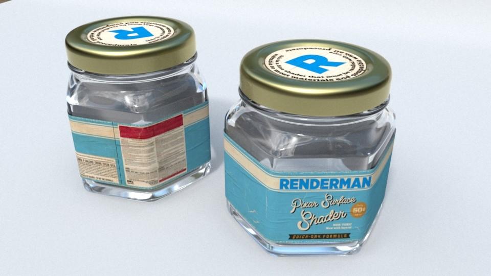 Concept - RenderMan paint bottle.