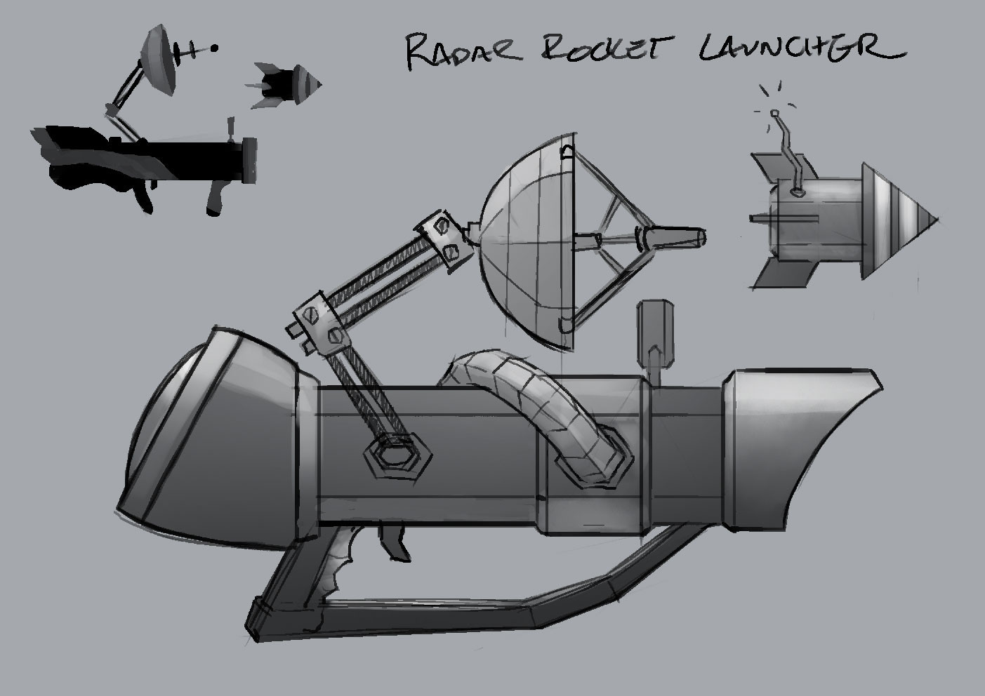 Radar Rocket Launcher - Weapon/Prop Concept