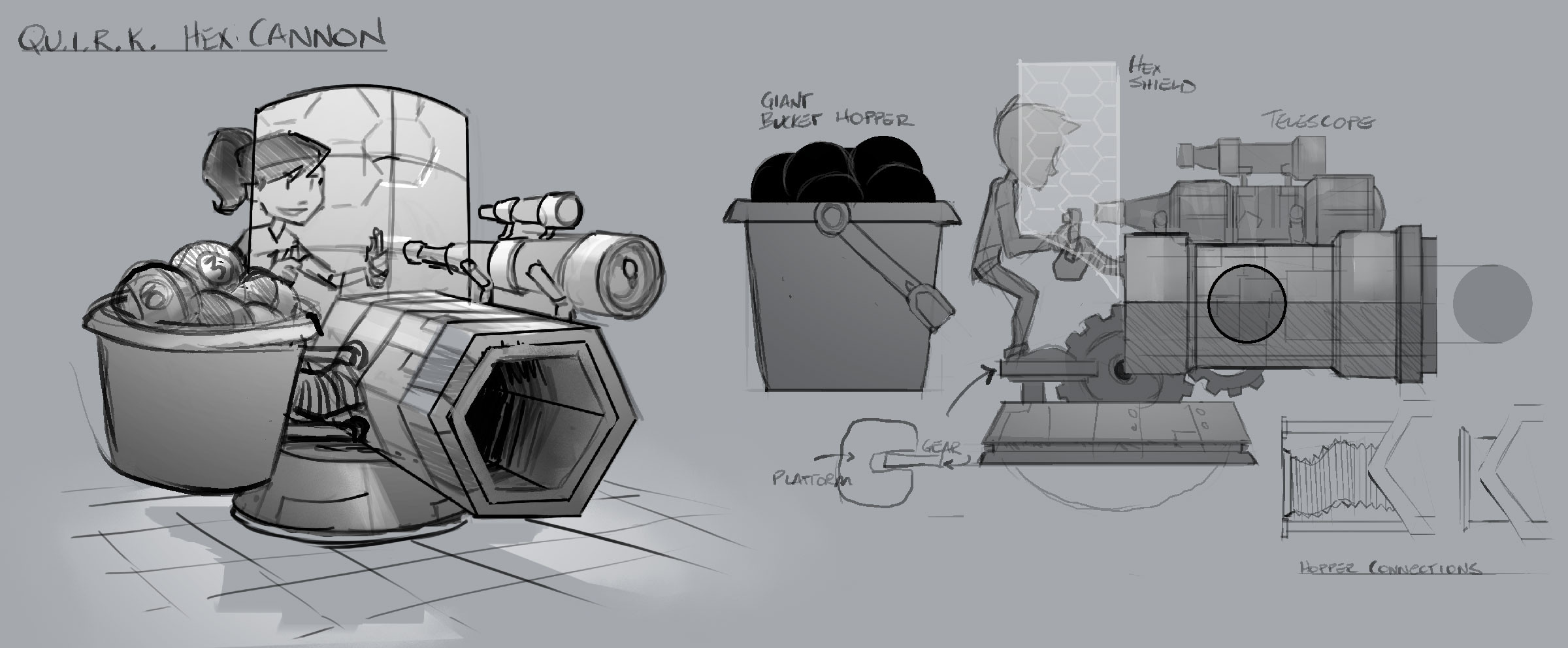 Hex Cannon Turret - Weapon/Prop Concept