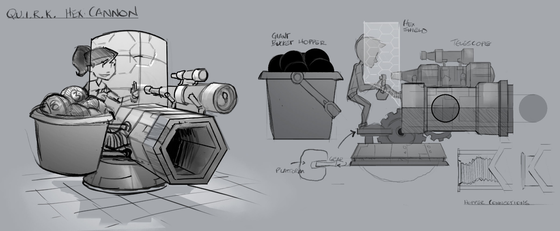 Hex Cannon Turret - Weapon/Prop Concept