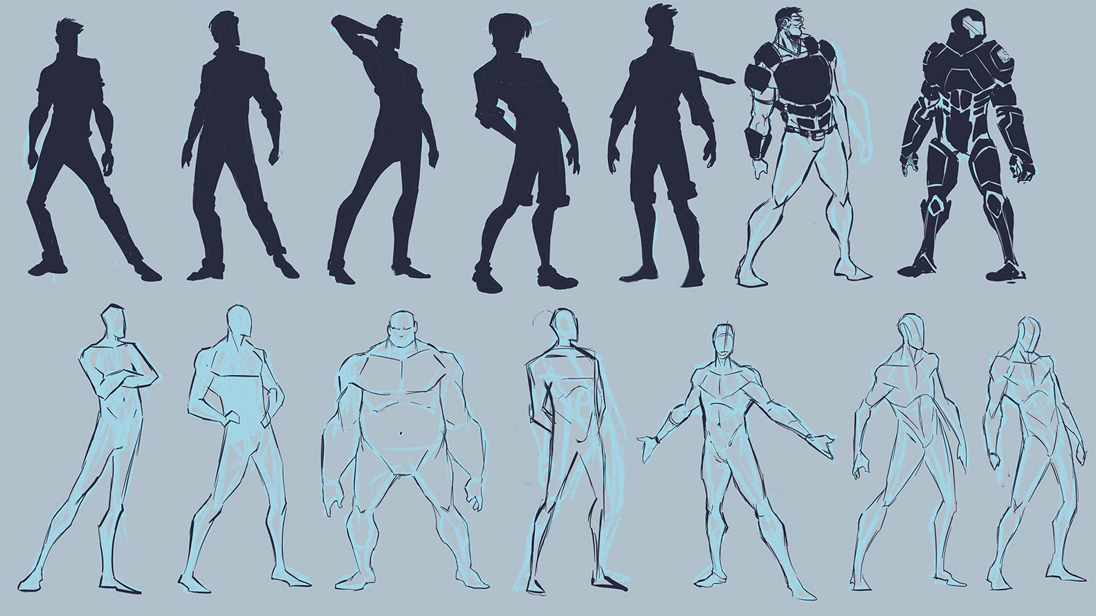 Silhouette Exploration and Character Development