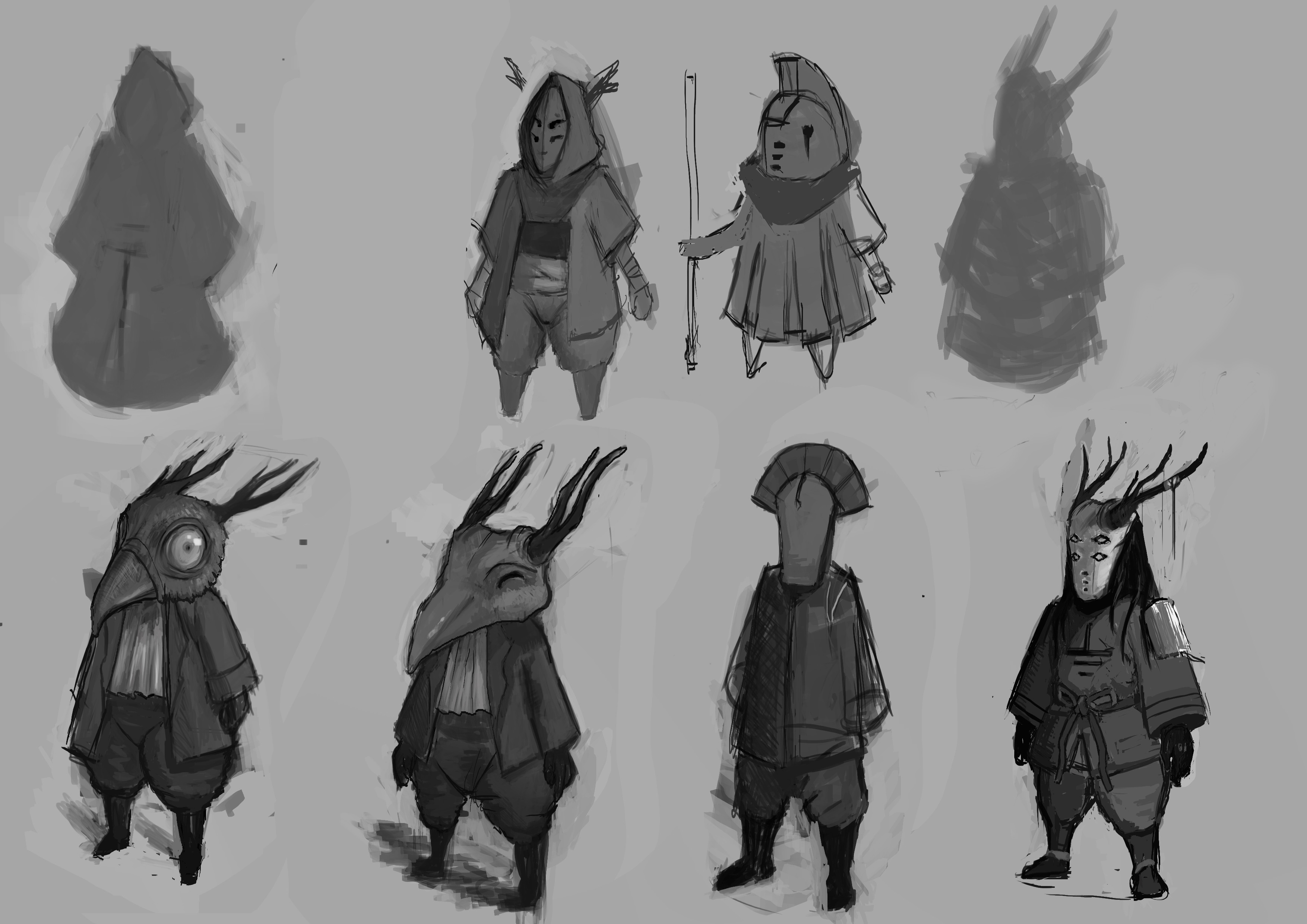 More refined sketches of the design