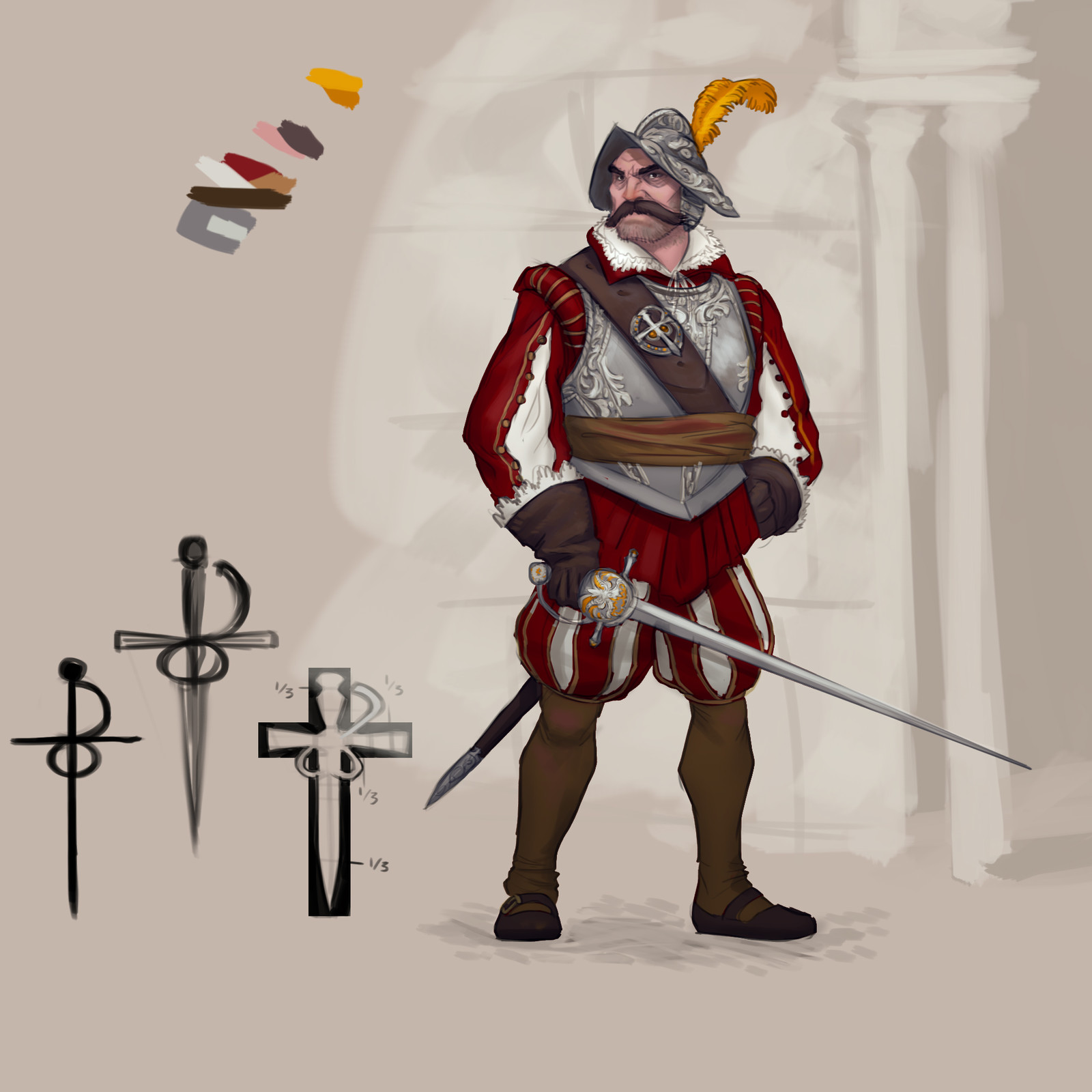 An earlier concept of the guards.