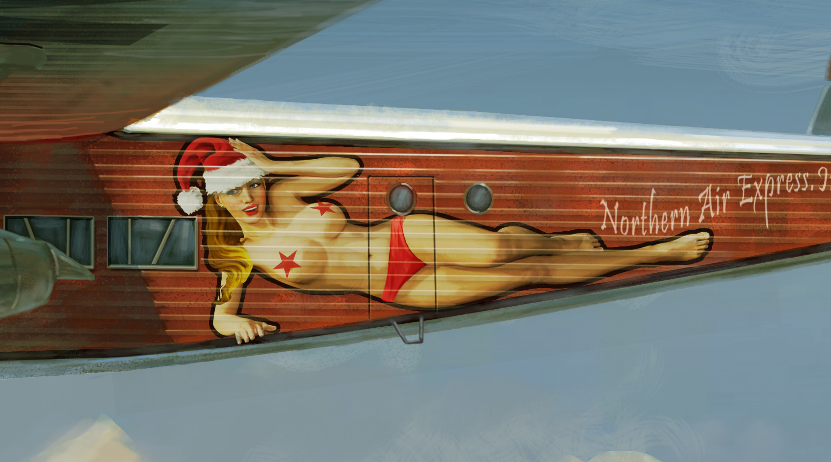 Eddie bennun new year plane detail