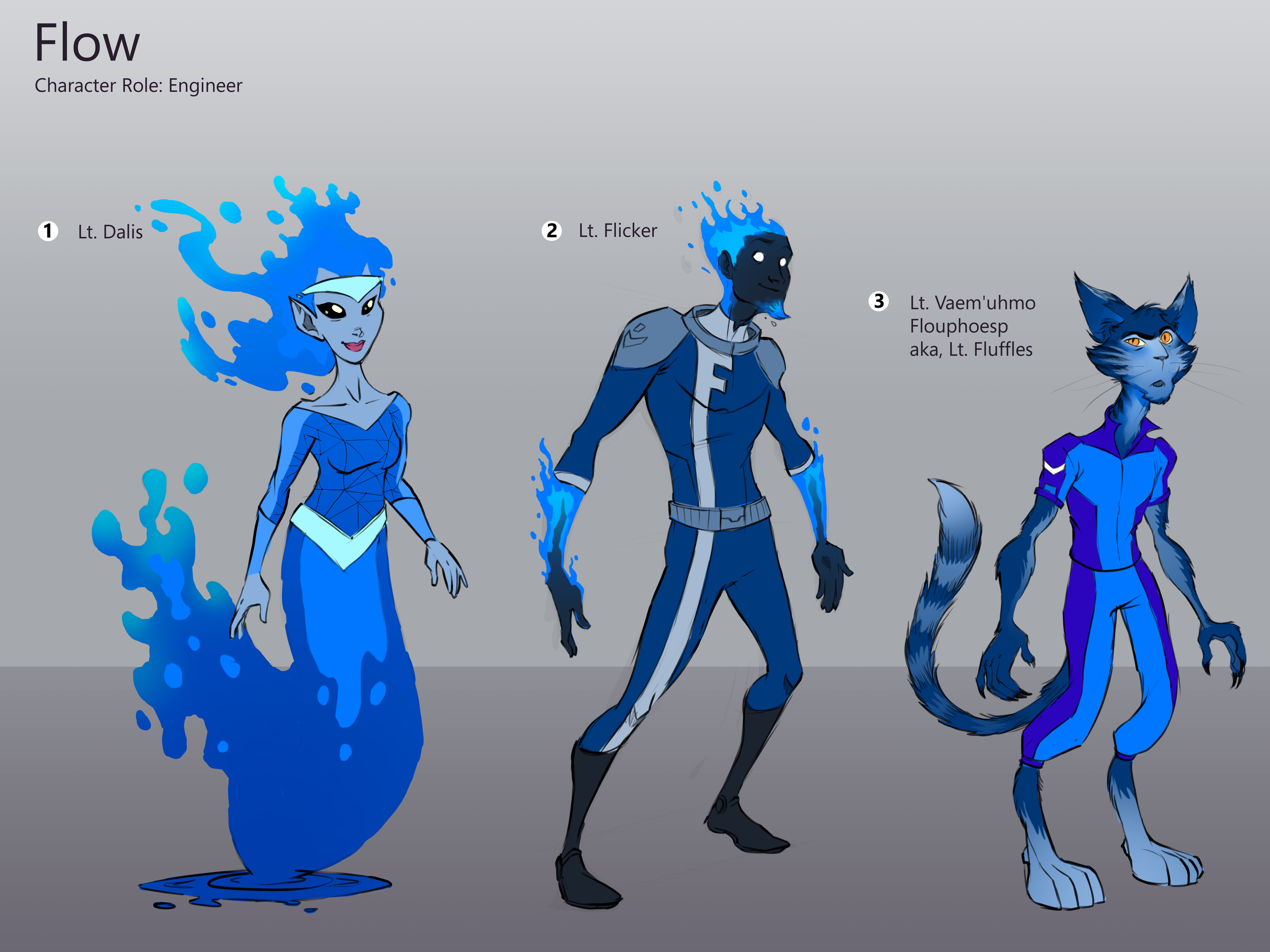 Refined character designs