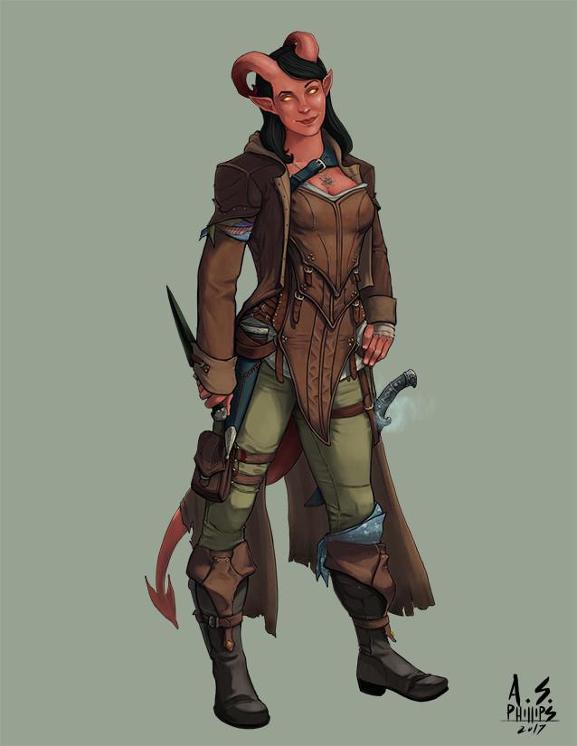 ArtStation - Character Commission: Anirali - Tiefling Rogue