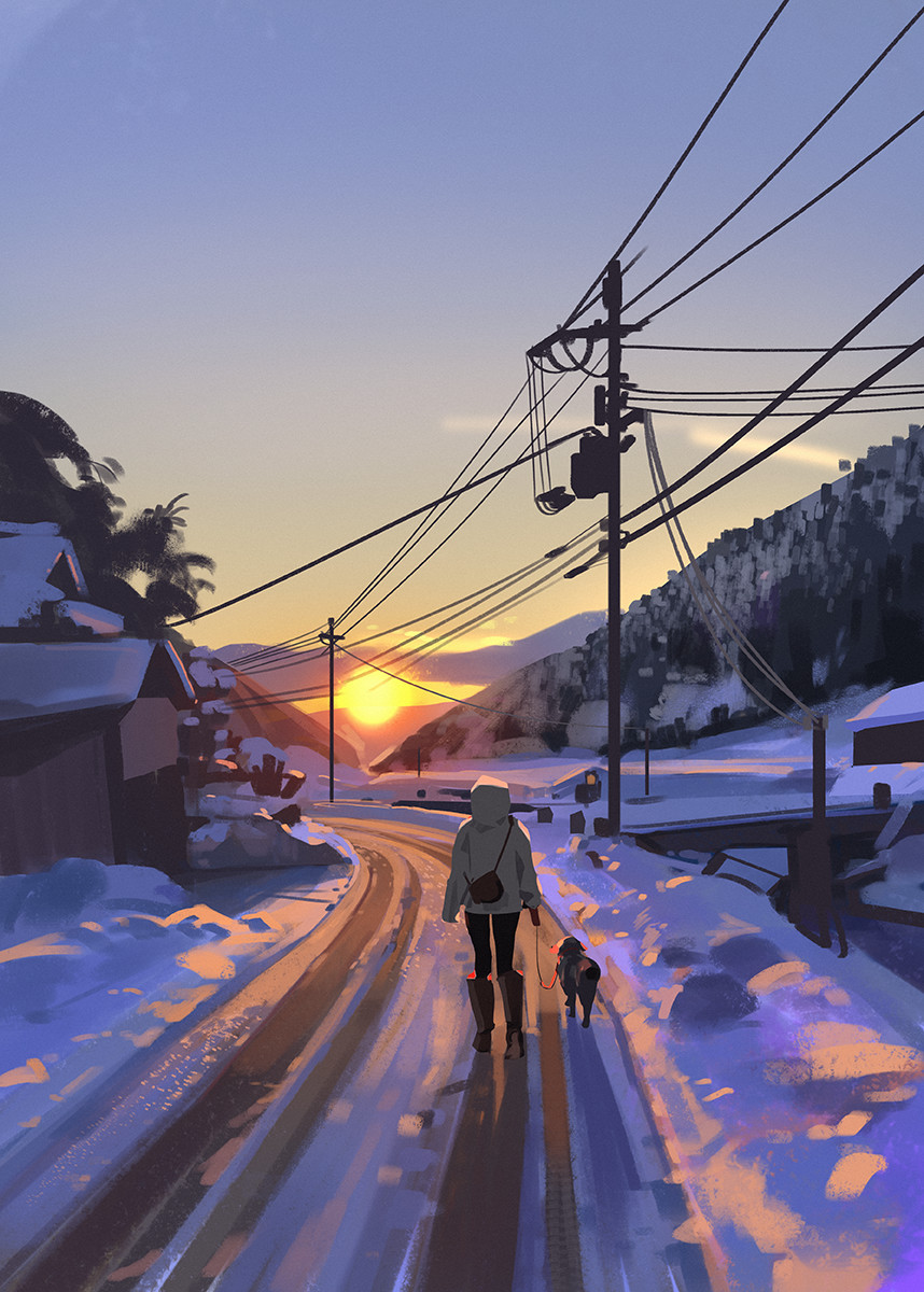 wont be going home to Sweden this year for Christmas, going to miss all the snow, decided to paint some instead
