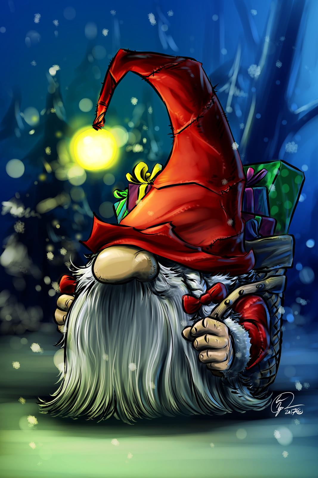 Xmas Gnome. Santa's Little Helper.