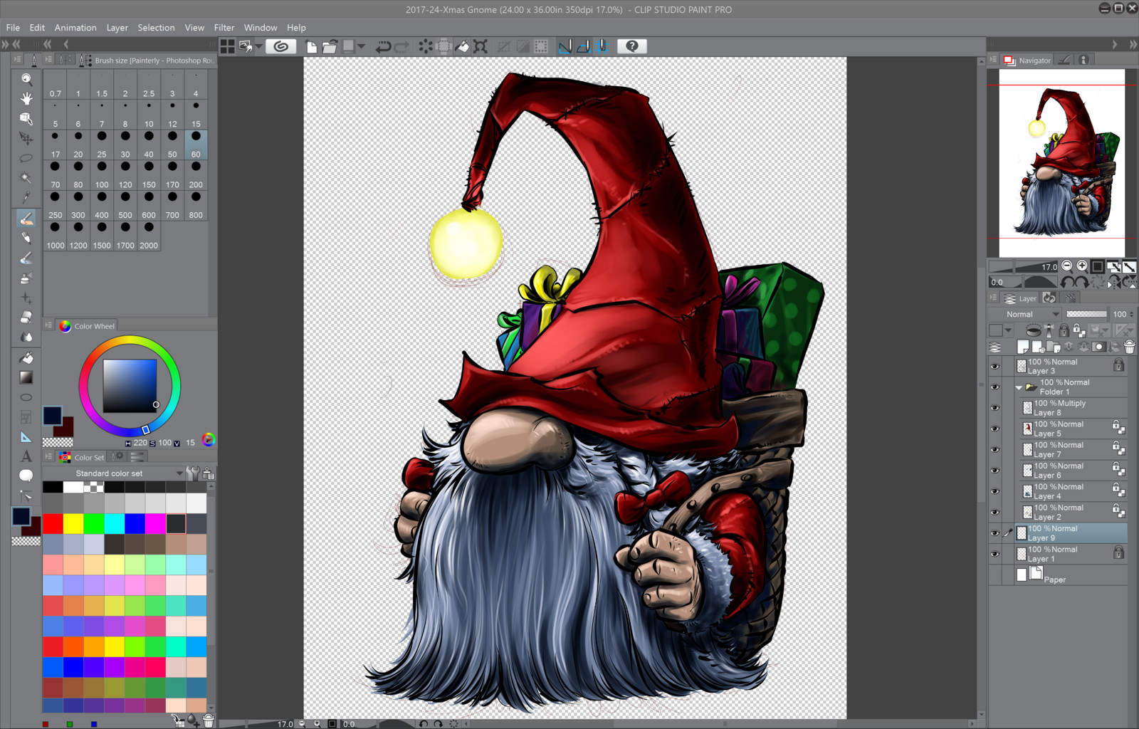 06- Finish painting the main character and now onto the background