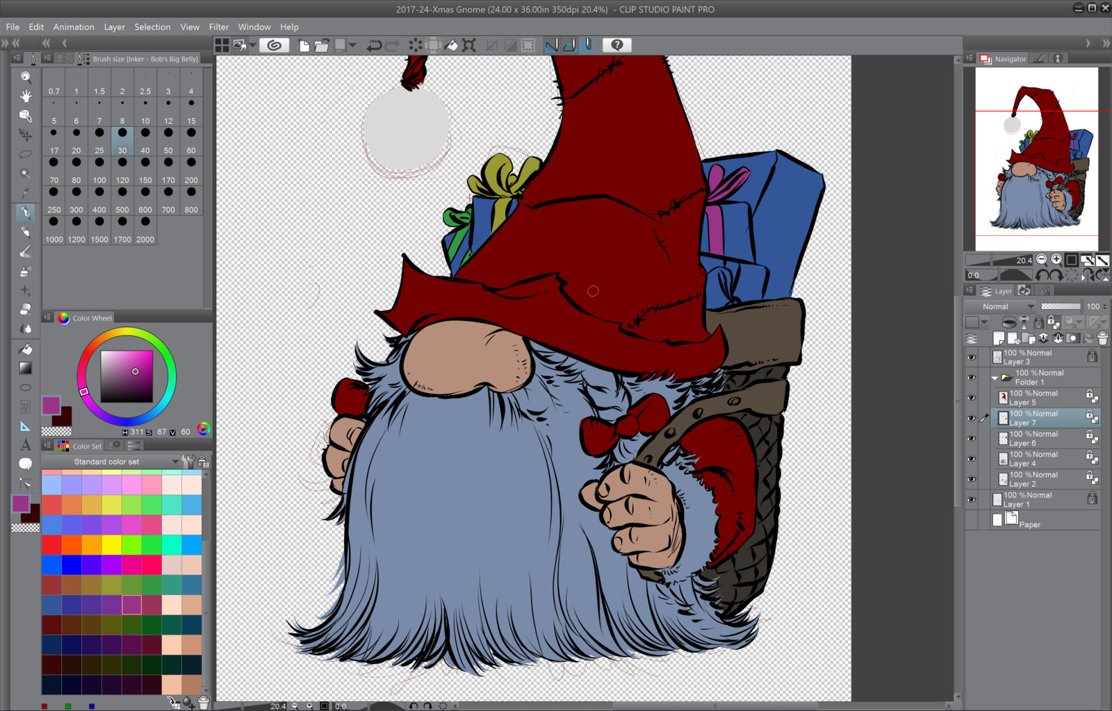 03- Laying down the base flat color tones on each layers