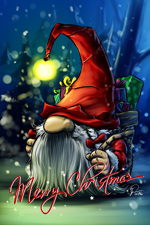 Loc nguyen 2017 24 xmas gnome merry christmas