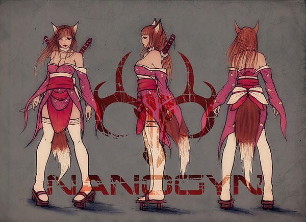 Concept sketch for Japanese Era version.