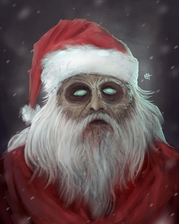 Christmas Zombie Santa.Artstation Zombie Santa Farsya Bangsart