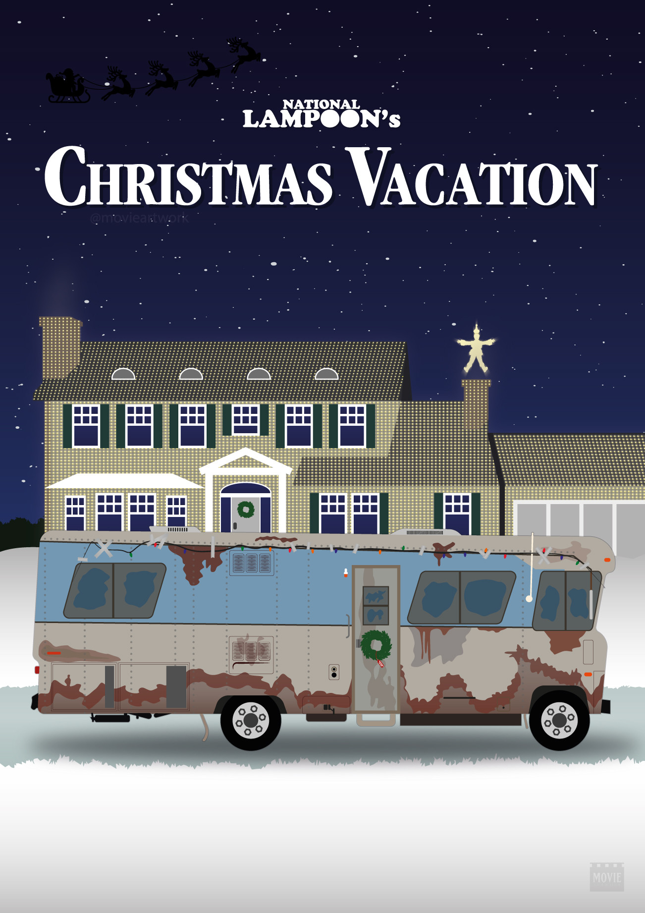 Christmas Vacation Rv.Artstation Christmas Vacation Rv And House Movie Artwork