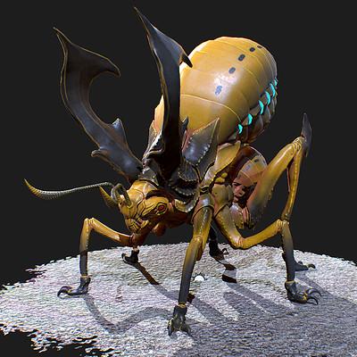 Anjar pratama yelow creature texture preview01