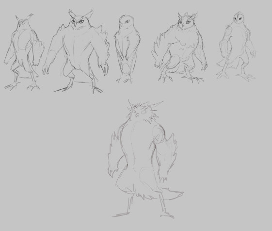 Cindy a avelino owl characters sketch3