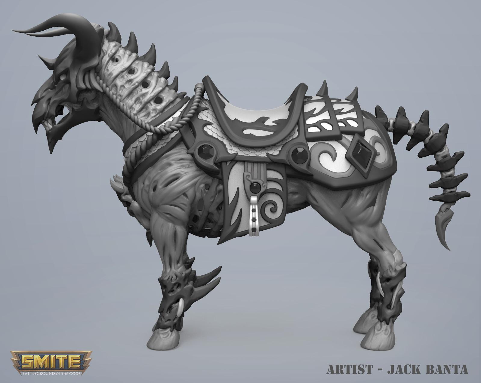 Jack banta horse sculpt22
