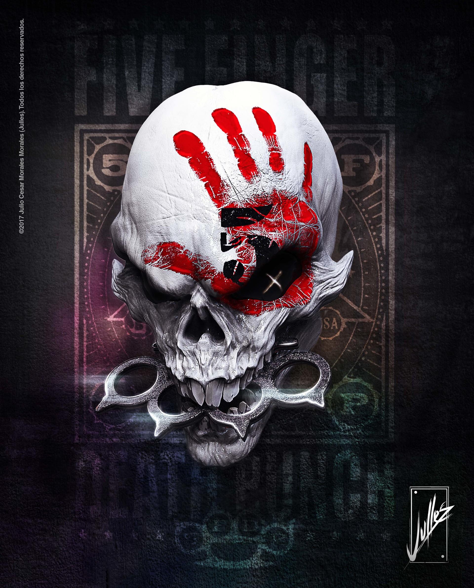 Julles Modelado Skull Five Finger Death Punch