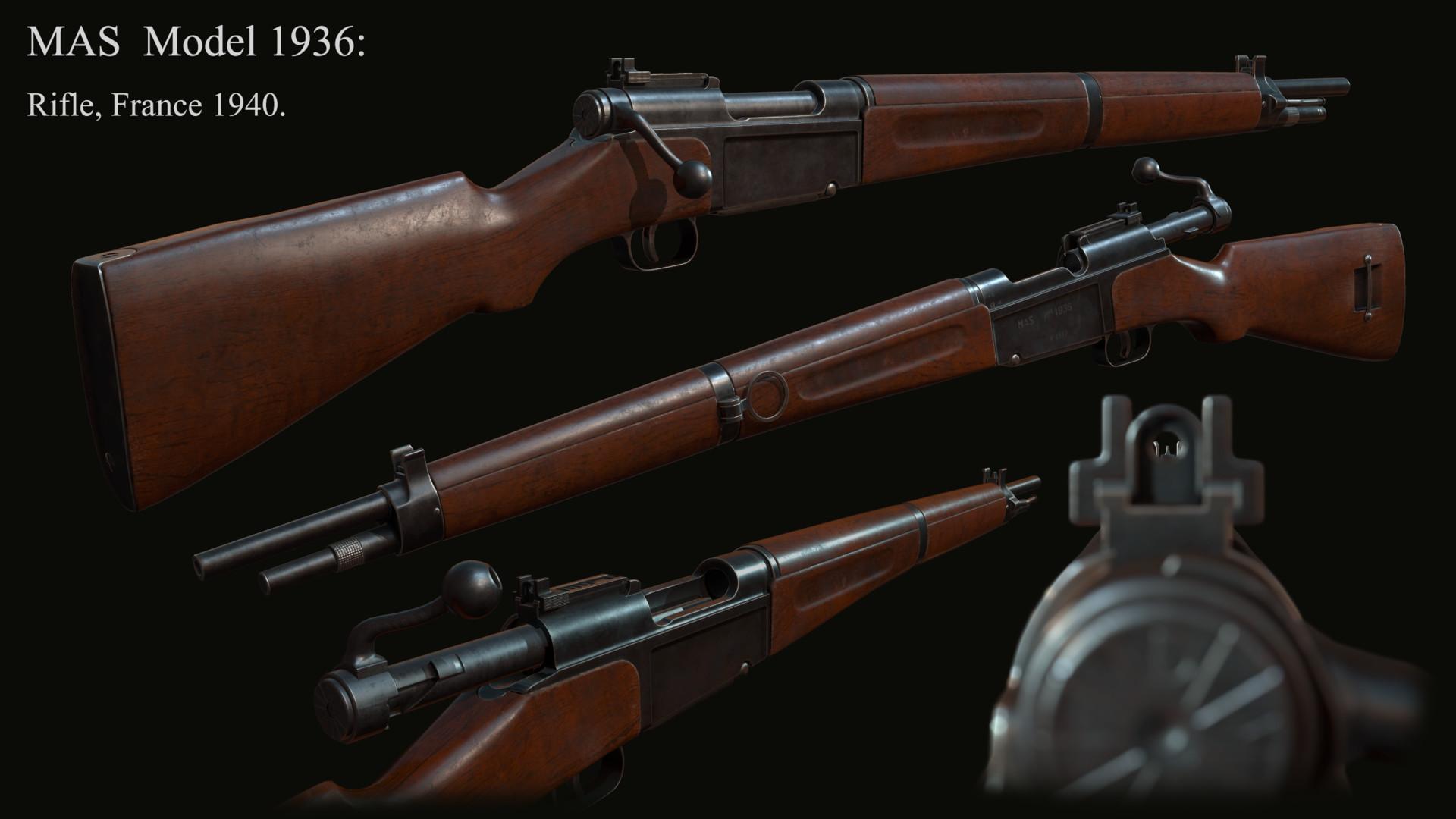 artstation mas 36 rifle james chilton