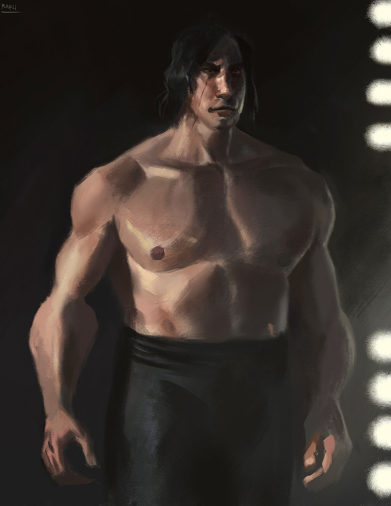 Raph lomotan shirtless kylo by raph04art dbxv1qt