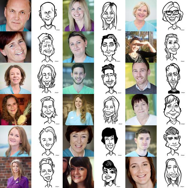 Photo Caricature Comparison