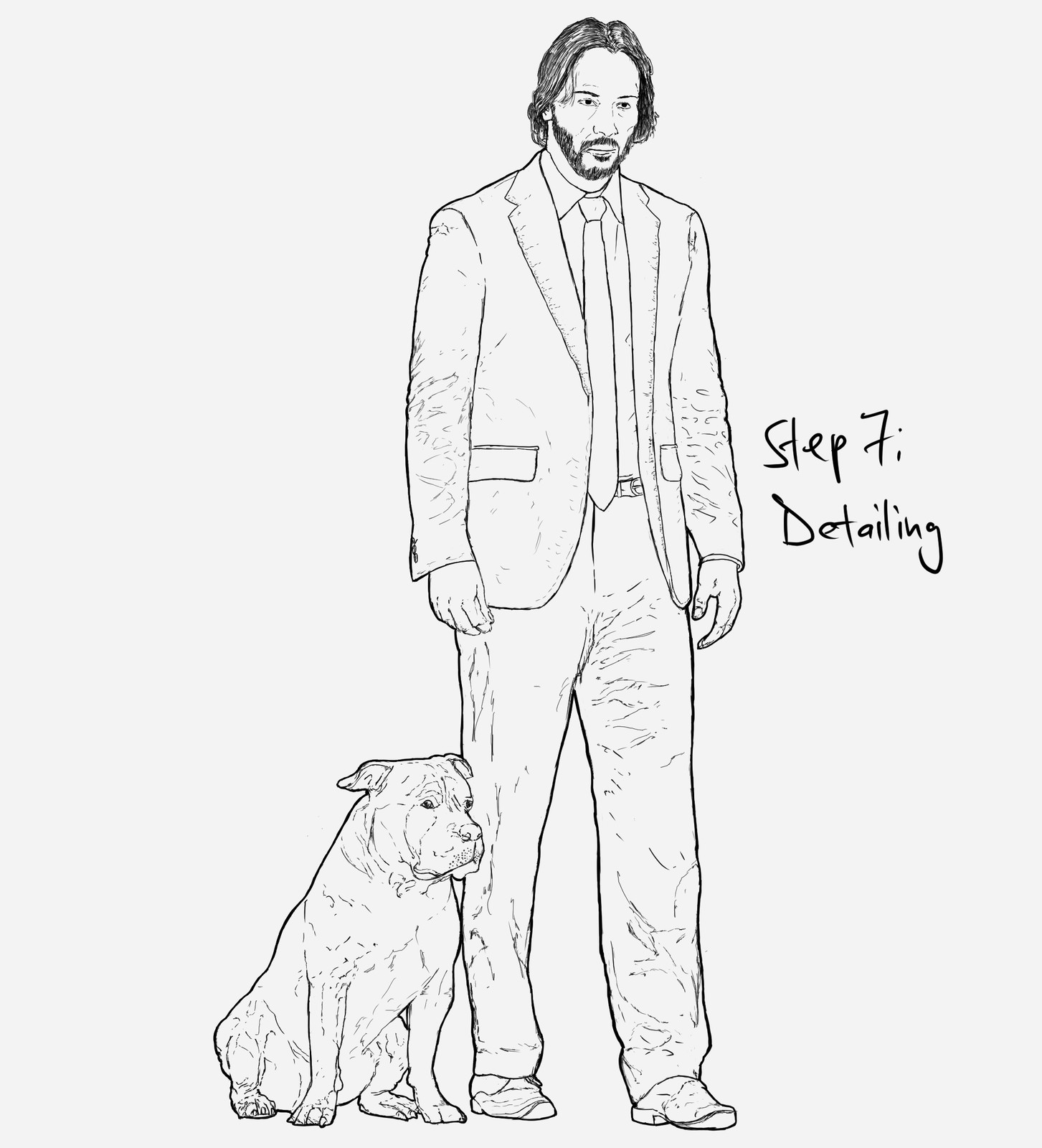 Daily Art Workout. Day 268.(Figure Drawing): John Wick