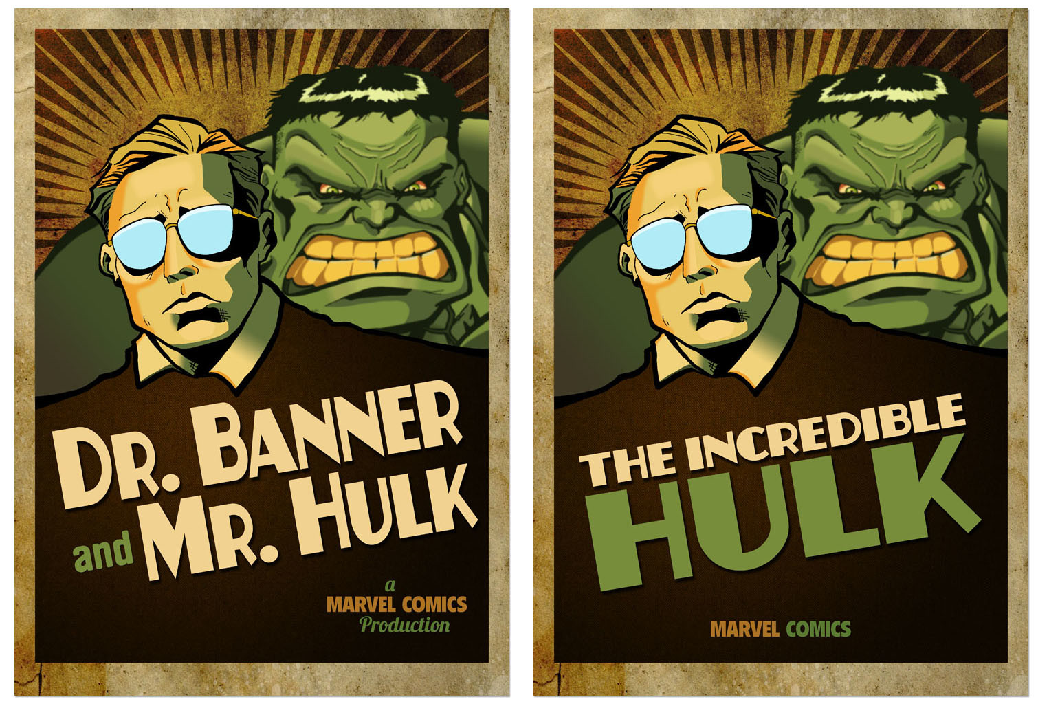 Dr. Banner and Mr. Hulk poster