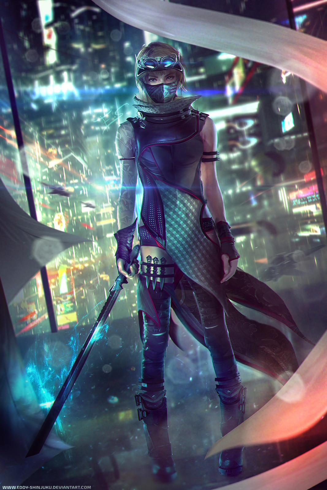 Sci-fi Ninjapunk Concept