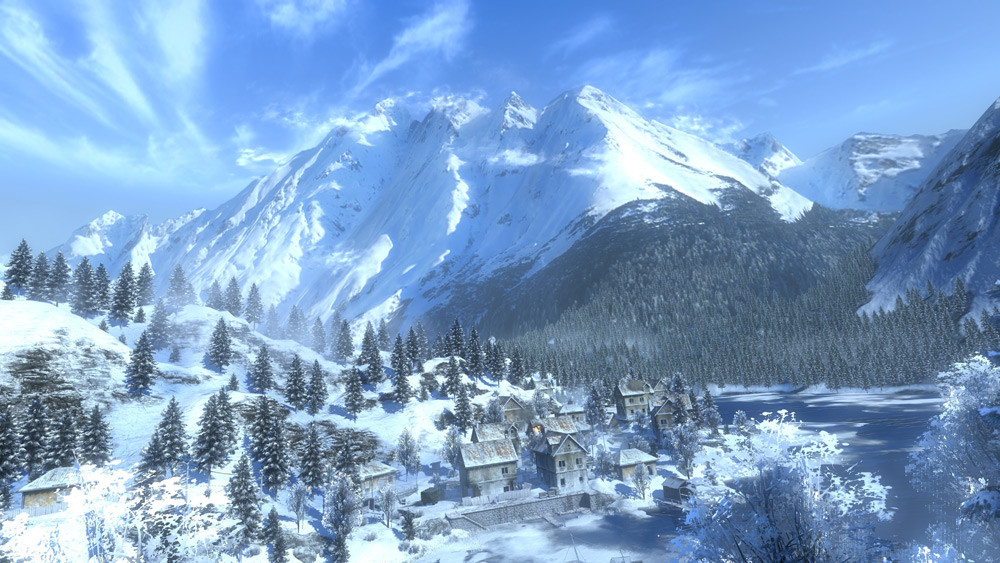 Fun fact: The same backdrop mountain is used on more or less all snow levels in the game.