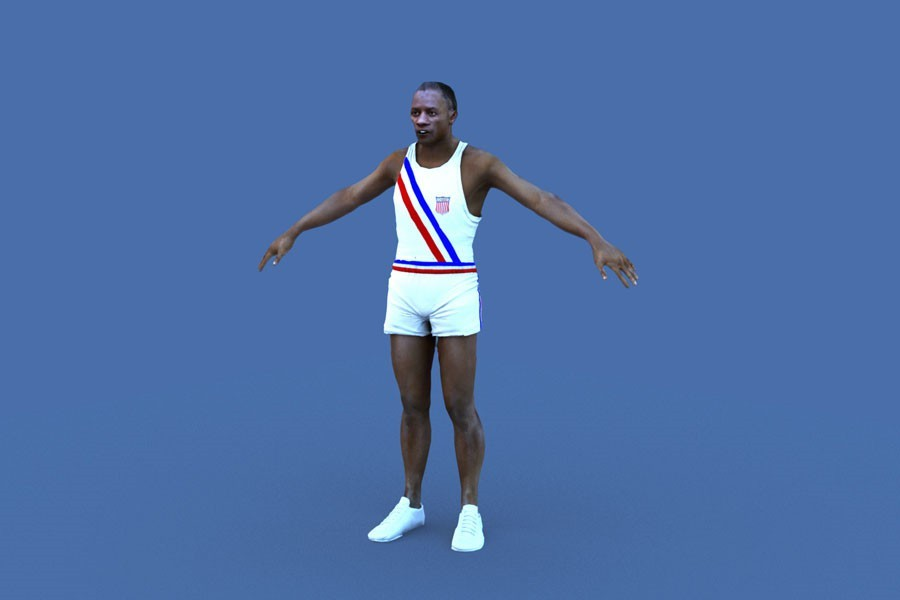 Jesse Owens digital double done for the London 2012 Olympics opening ceremony