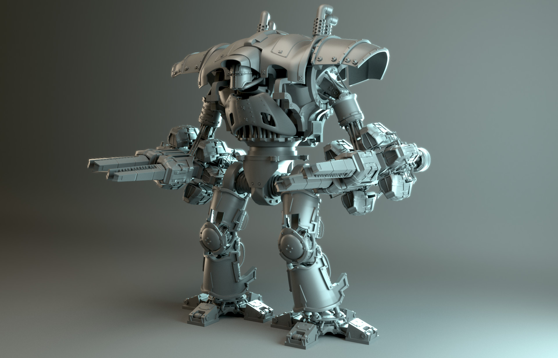 Mech lighting (mech by cris robson - shared with his permission)
