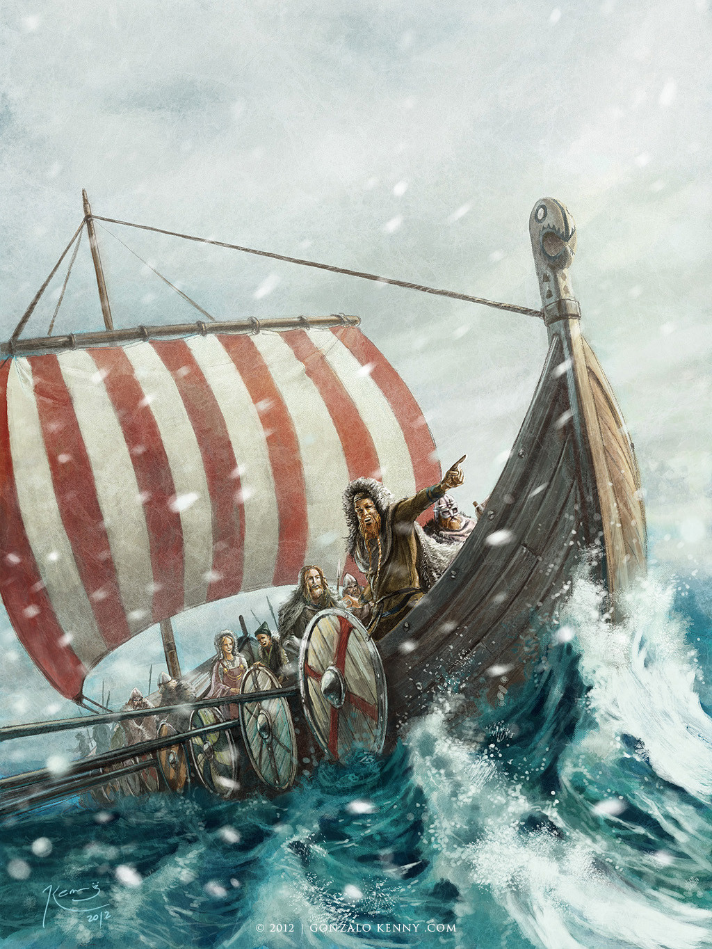 Vikings on the Greenland