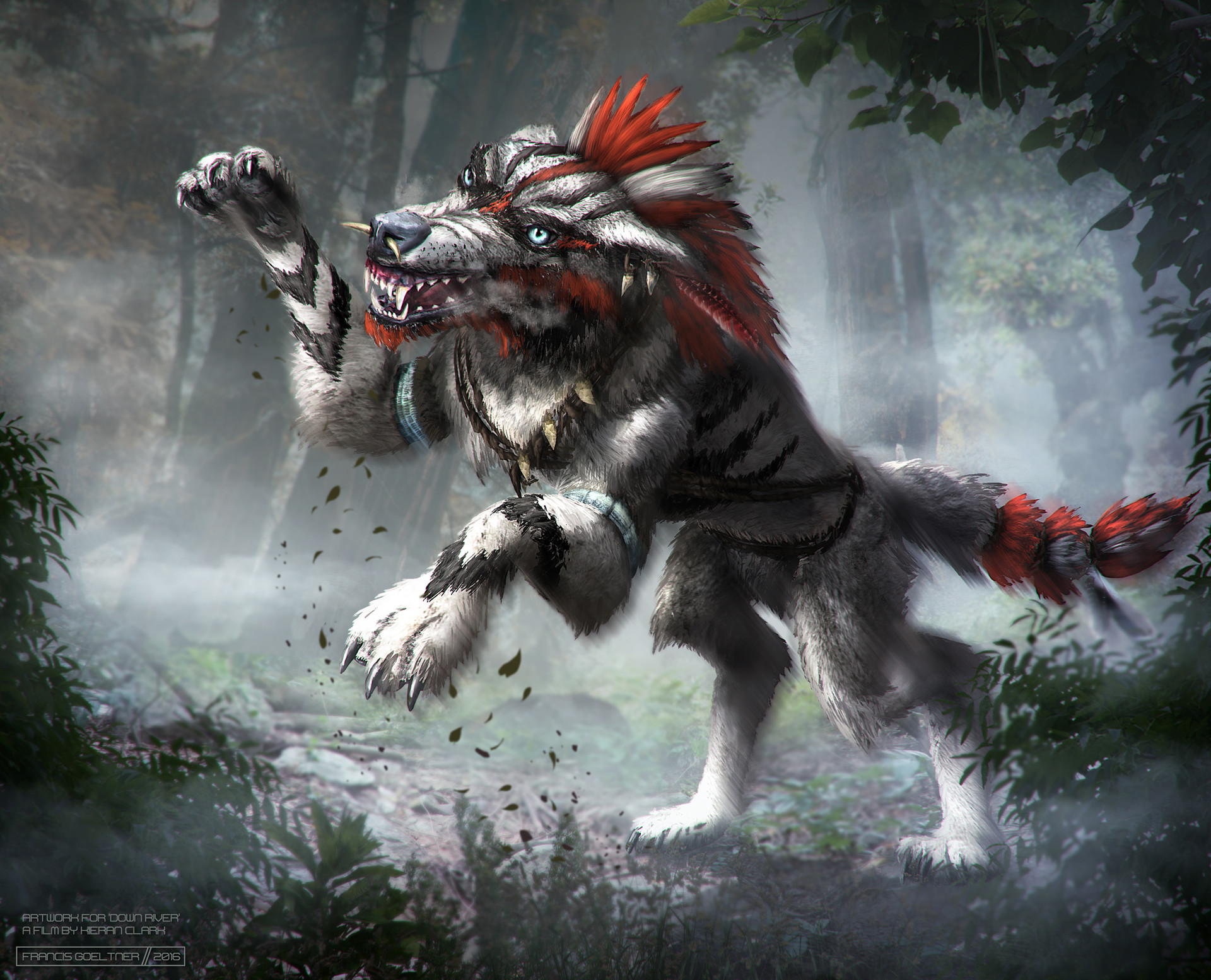 Down River Character: Wolf Warrior