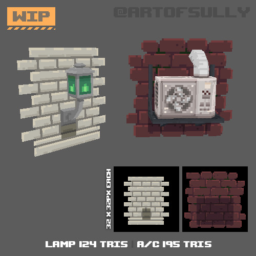 3D Pixel-Art Wall Textures Demo (Commission)