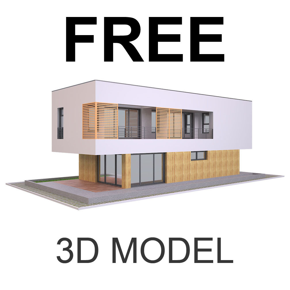 Artstation Modern House 2 Free 3d Model Md Hoque