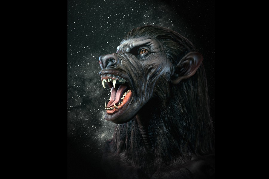 werewolf commission for 4 foot framed print