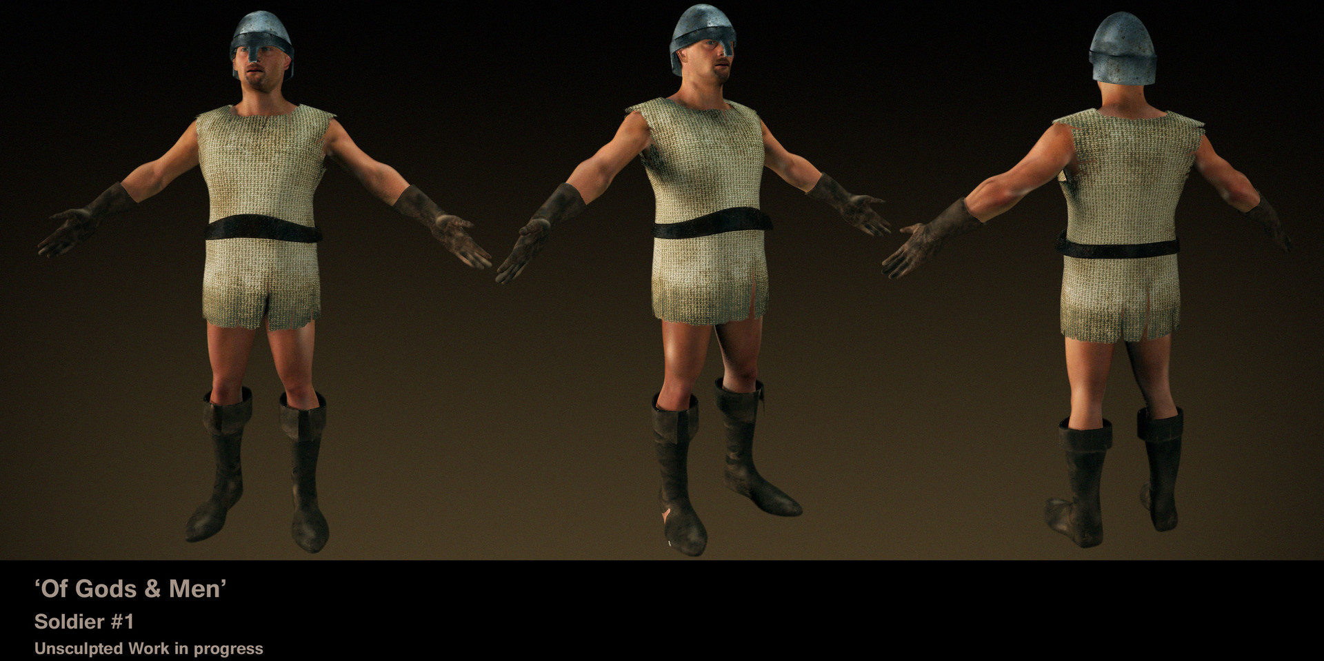 Wayne robson soldier render clothes1