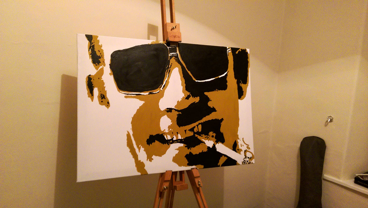Wayne robson hunter s thompson painting