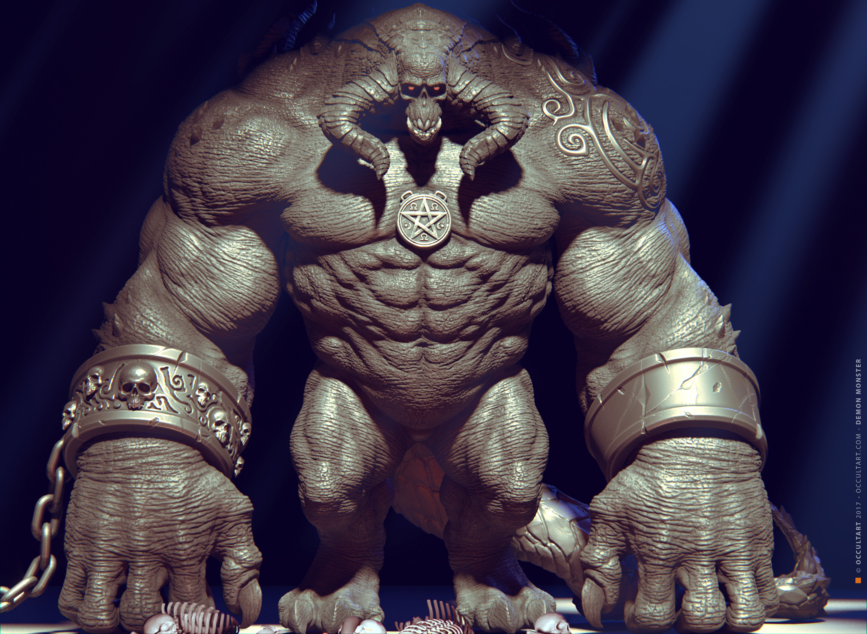 Demon Monster Render Test