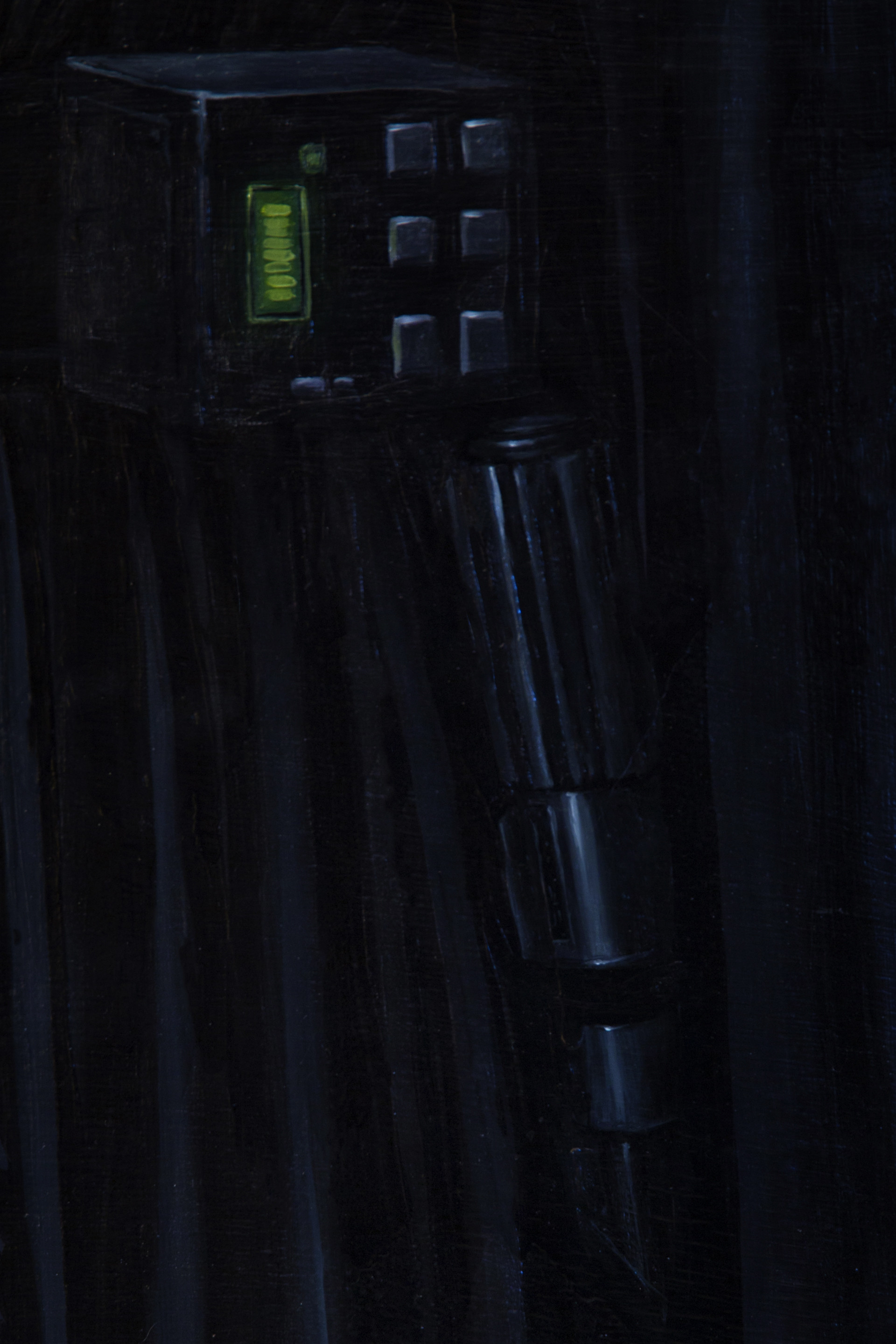 my favourite detail, the lightsaber, this was my favourite part during the process