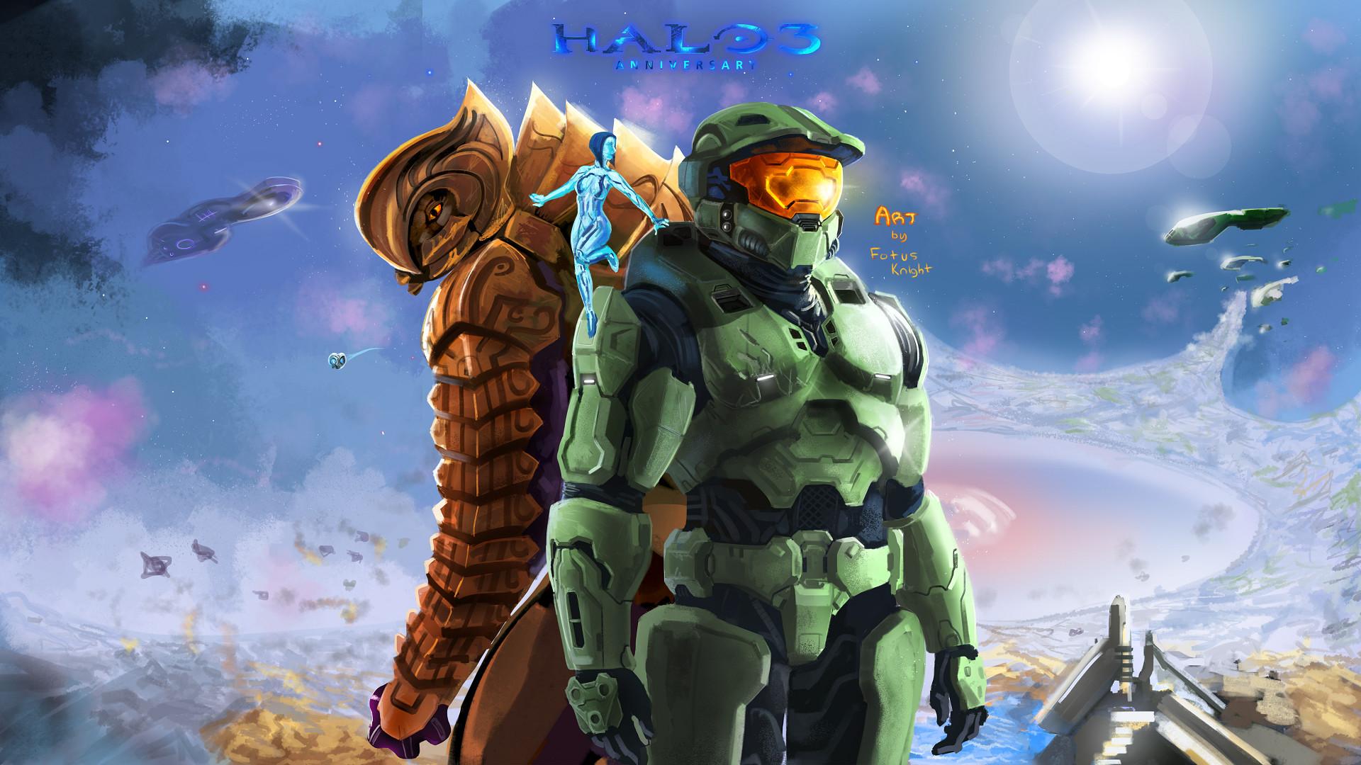 Artstation Halo 3 Anniversary Fotus Knight