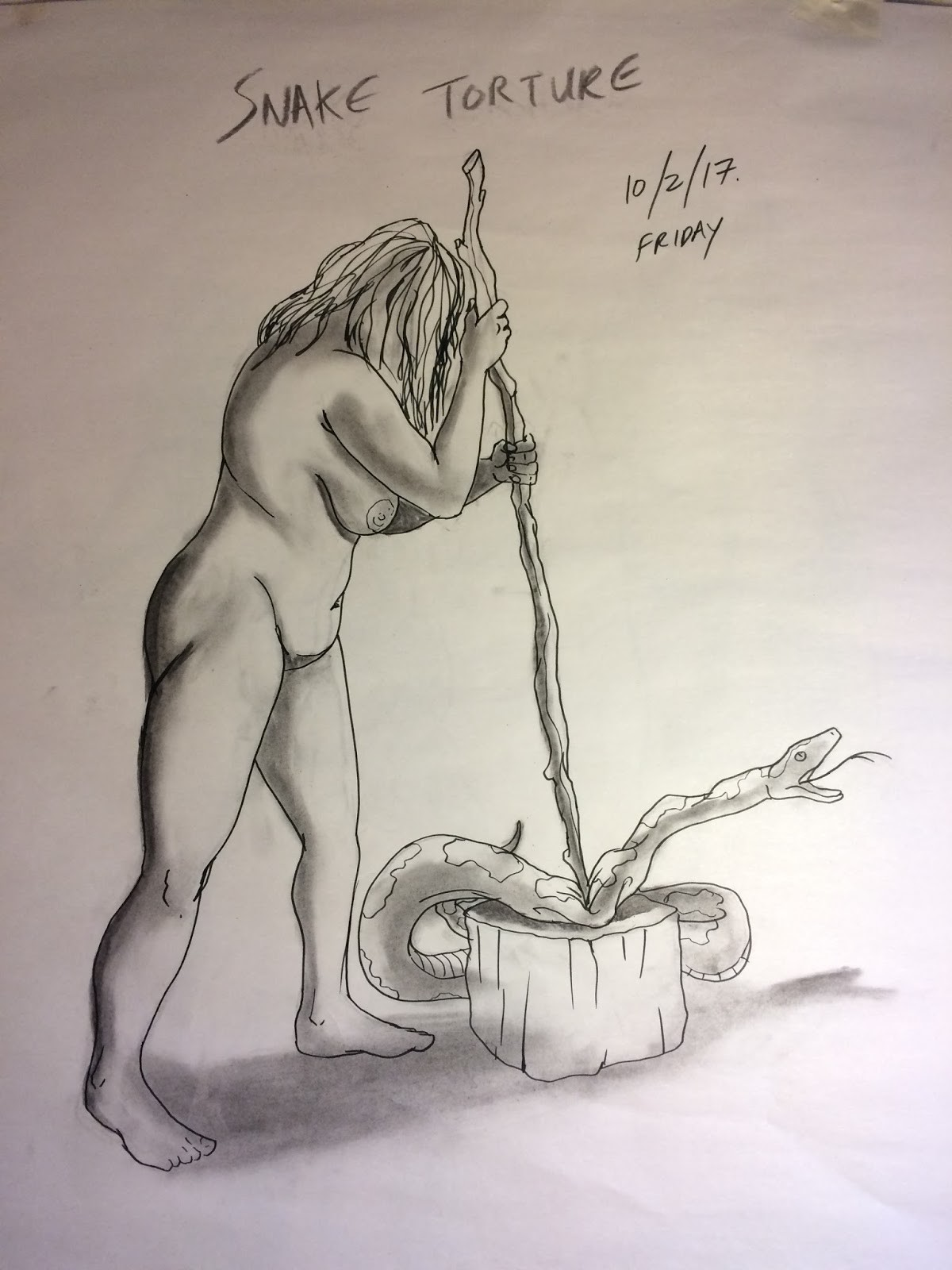Artstation Life Drawing Eve Tortures The Serpent Stephen