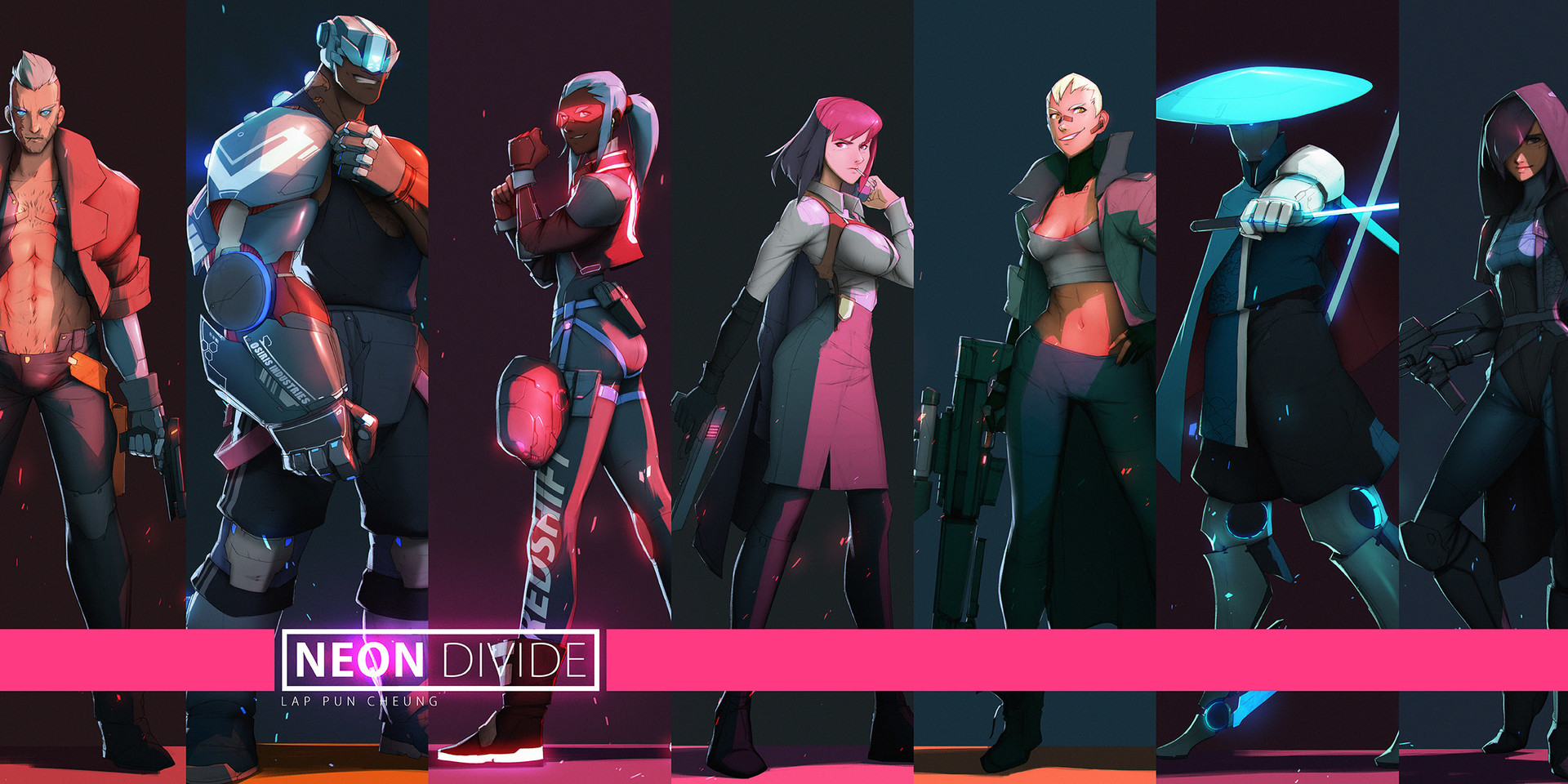 Lap pun cheung neon divide character compilation 002 online